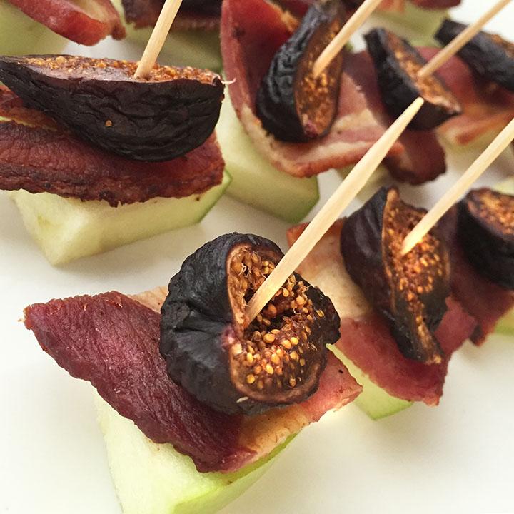 bacon fig apple bites